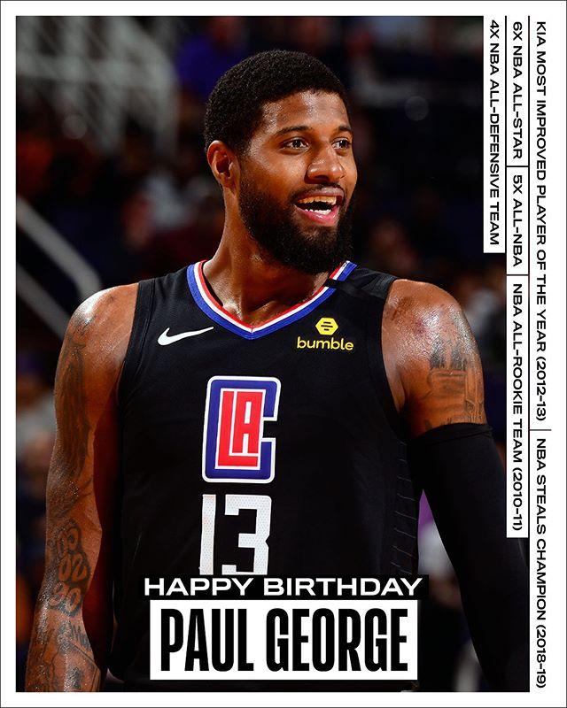 生日祝福!NBA官方发文祝保罗-乔治30岁生日快乐