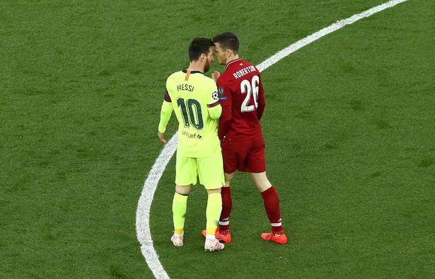 罗伯逊回忆对阵梅西:他是史上最佳,他用脚做的事很可怕