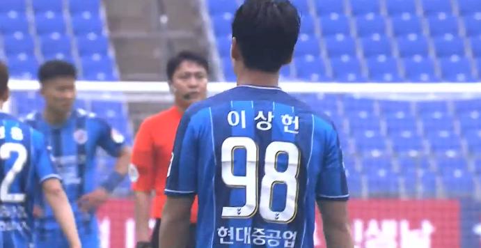 GIF:儒尼奥尔助攻李尚宪推射空门得手,蔚山现代3-0领先