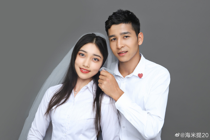 撒花!22岁的江苏苏宁小将阿不都海米提与女友领证