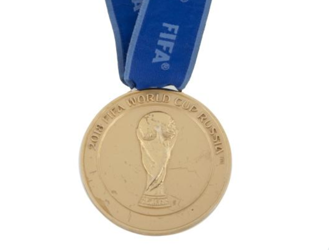 会是谁呢?一名18年世界杯冠军球员将奖牌拍卖71875美元