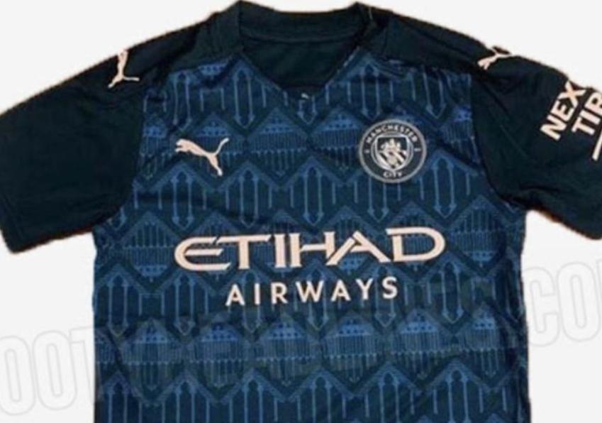 曼城新赛季客场球衣曝光,球迷:至少比第三球衣好看