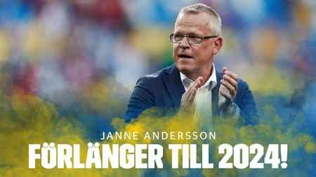 官方:瑞典足协与国家队主帅安德森续约至2024年