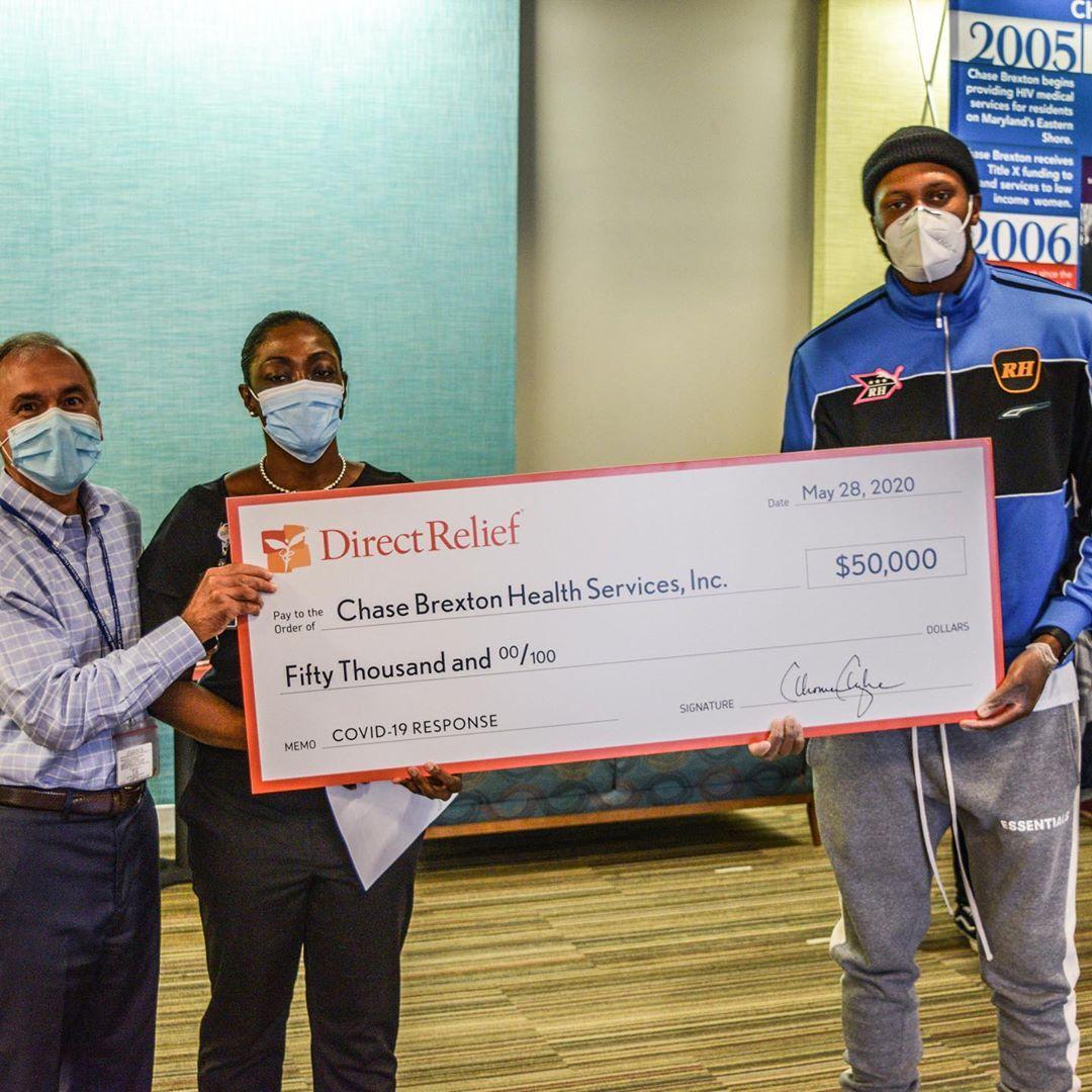 鲁迪-盖伊为家乡巴尔的摩地区医疗中心捐赠五万美元