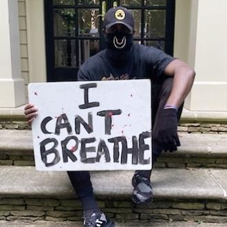 杰伦-布朗今日在亚特兰大市参加反种族主义抗议游行