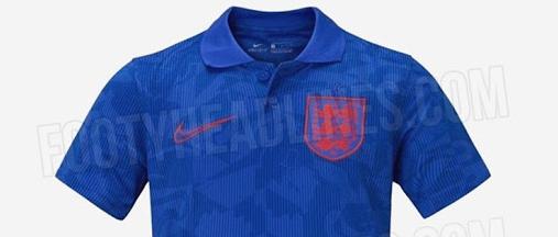 英格兰2020欧洲杯客场球衣曝光:再用蓝色,2017后首次  足球话题区