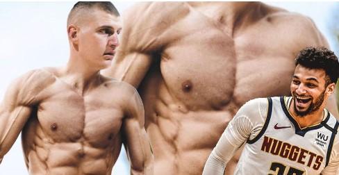 贾马尔-默里打趣:看到约基奇有四块腹肌会有点奇怪