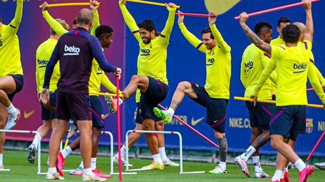 梅西和塞梅多参加球队合练,将能够出战马略卡