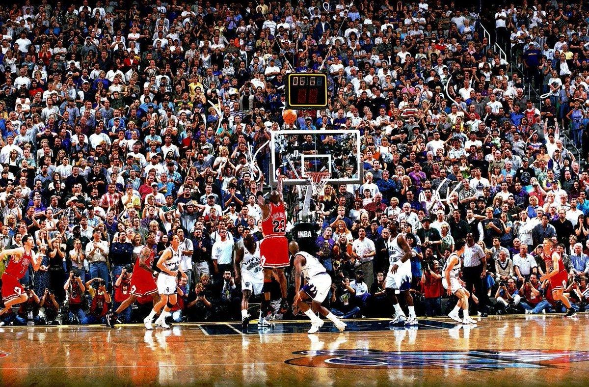 """22年前的今天,乔丹总决赛G6贡献""""世纪之投""""带队夺冠"""