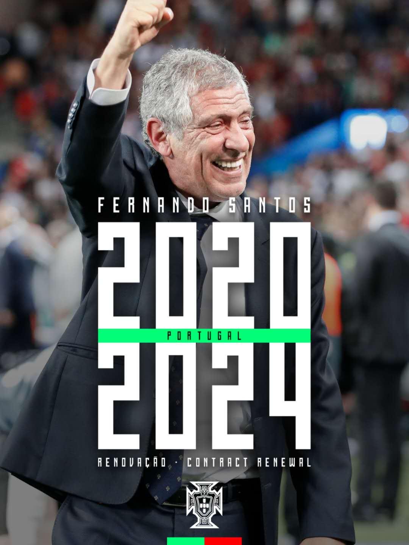 官方:葡萄牙足协与国家队主帅桑托斯续约至2024年