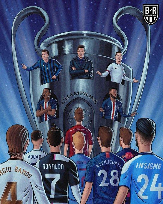 B/R海报:欧冠8月7日开打,3周26场欧战,一切都回来了