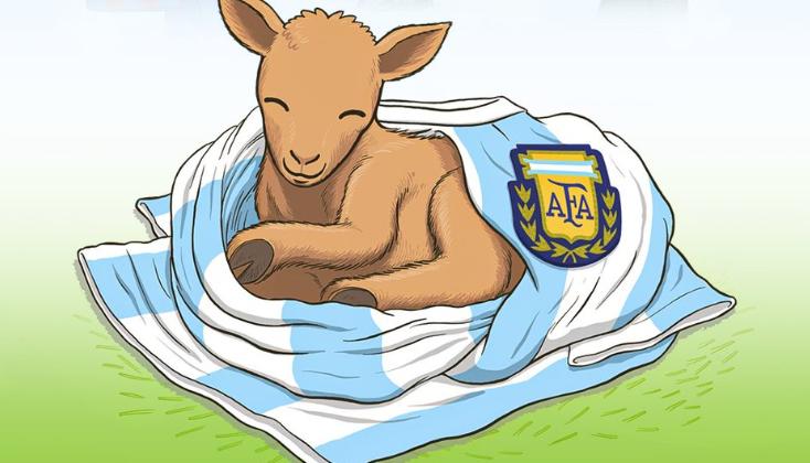 """梅西生快!B/R海报:1987年的今天,一只""""山羊""""出生了  足球话题区"""