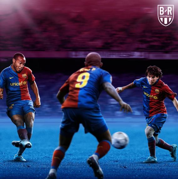 B/R海报:从亨利猎豹到德容法蒂,铁打的梅西流水的搭档  足球话题区