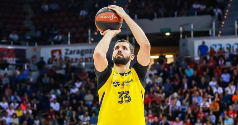 巴塞罗那篮球俱乐部前锋米罗蒂奇获得本赛季西甲联赛MVP
