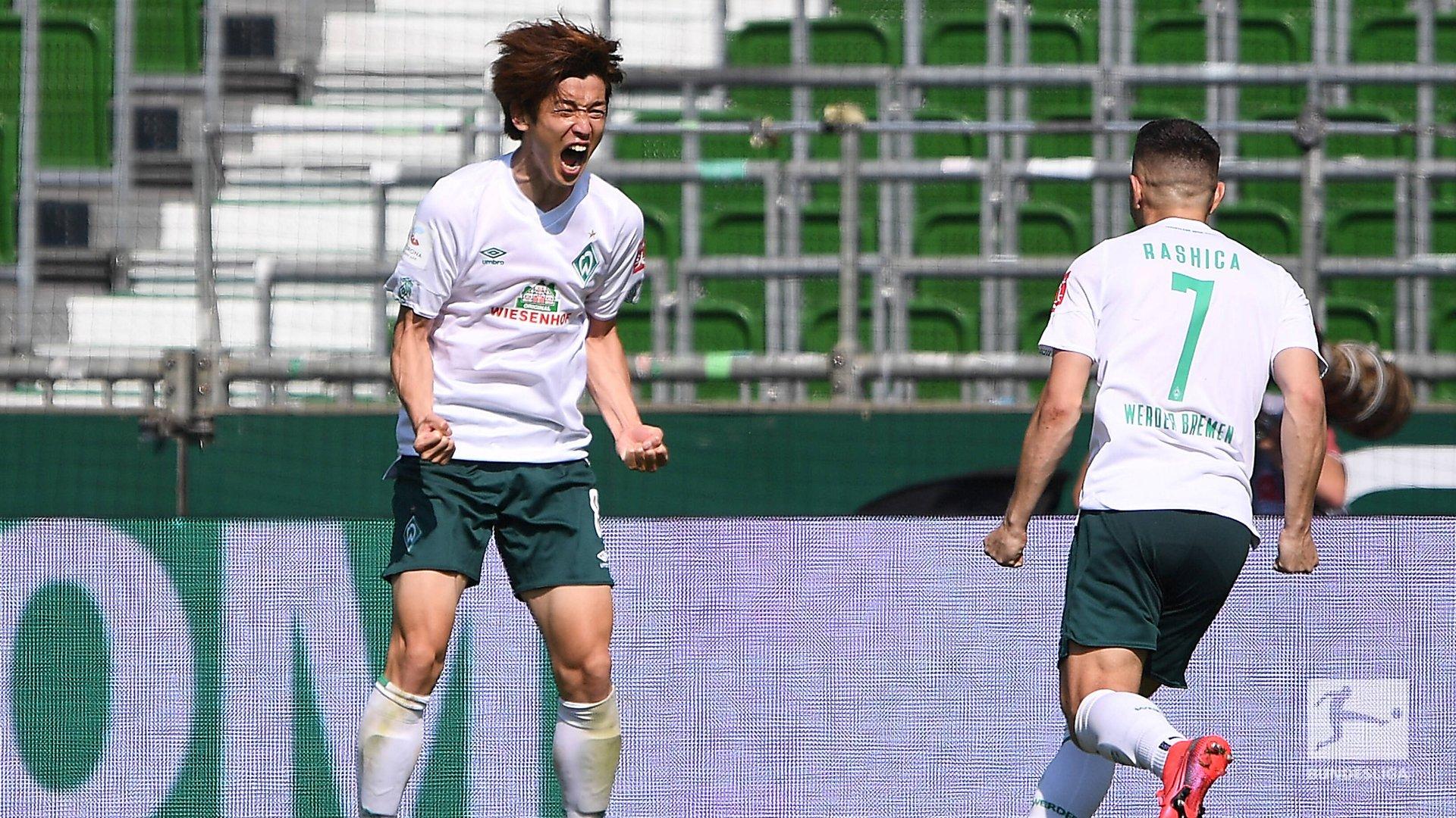 保级大腿!大迫勇也最后4轮4球,进球数创德甲生涯新高