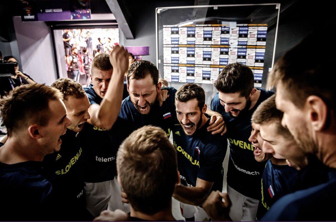 德拉季奇发文回顾3年前斯洛文尼亚男篮夺得欧锦赛冠军之夜