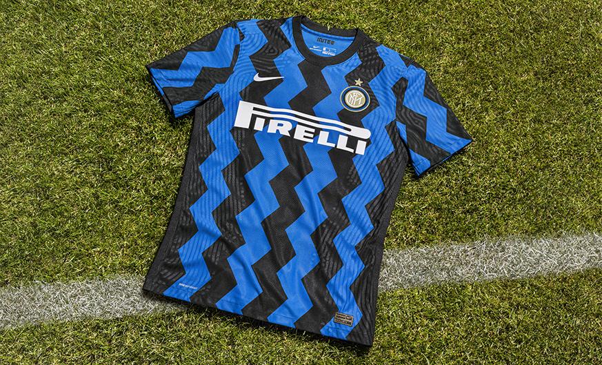 国米新球衣展示:Z字型代表蛇精灵,7月1日开始预售