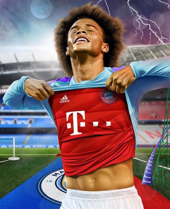 德媒:萨内今天就来慕尼黑,不会再为曼城踢欧冠比赛