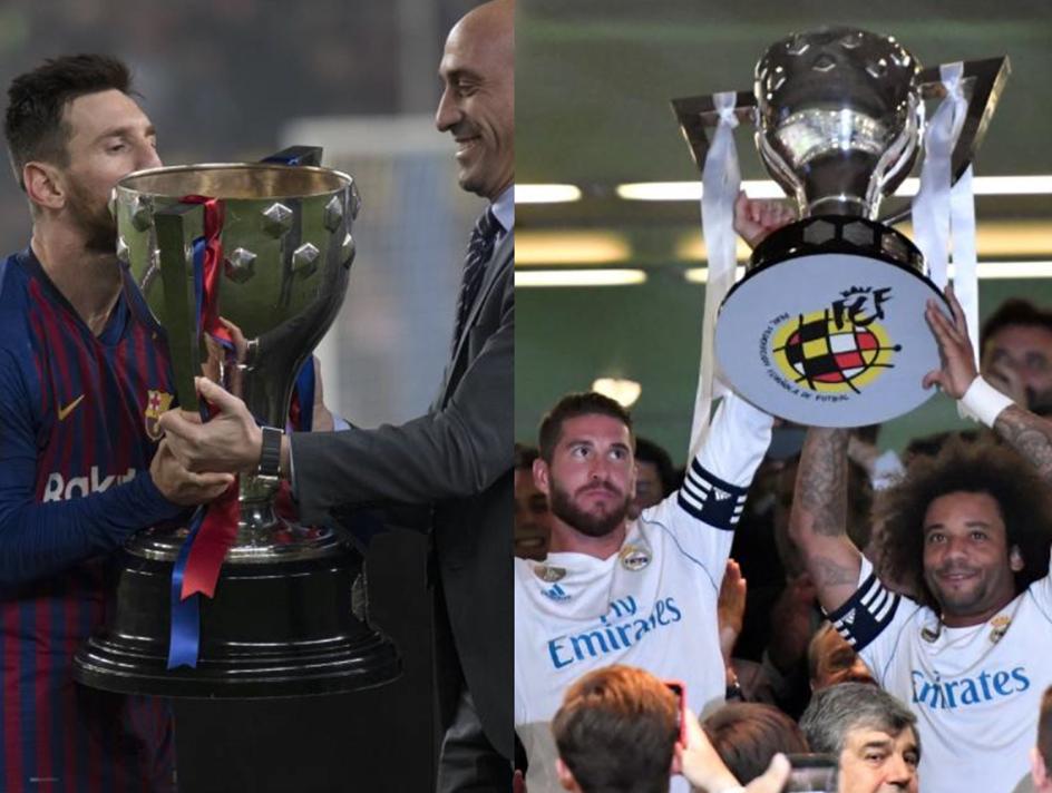 皇马巴萨若竞争至最后一轮,足协主席也将现场为冠军颁奖