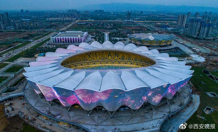 """多图流:""""盛世之花""""绽放,西安奥体中心主体育场竣工"""