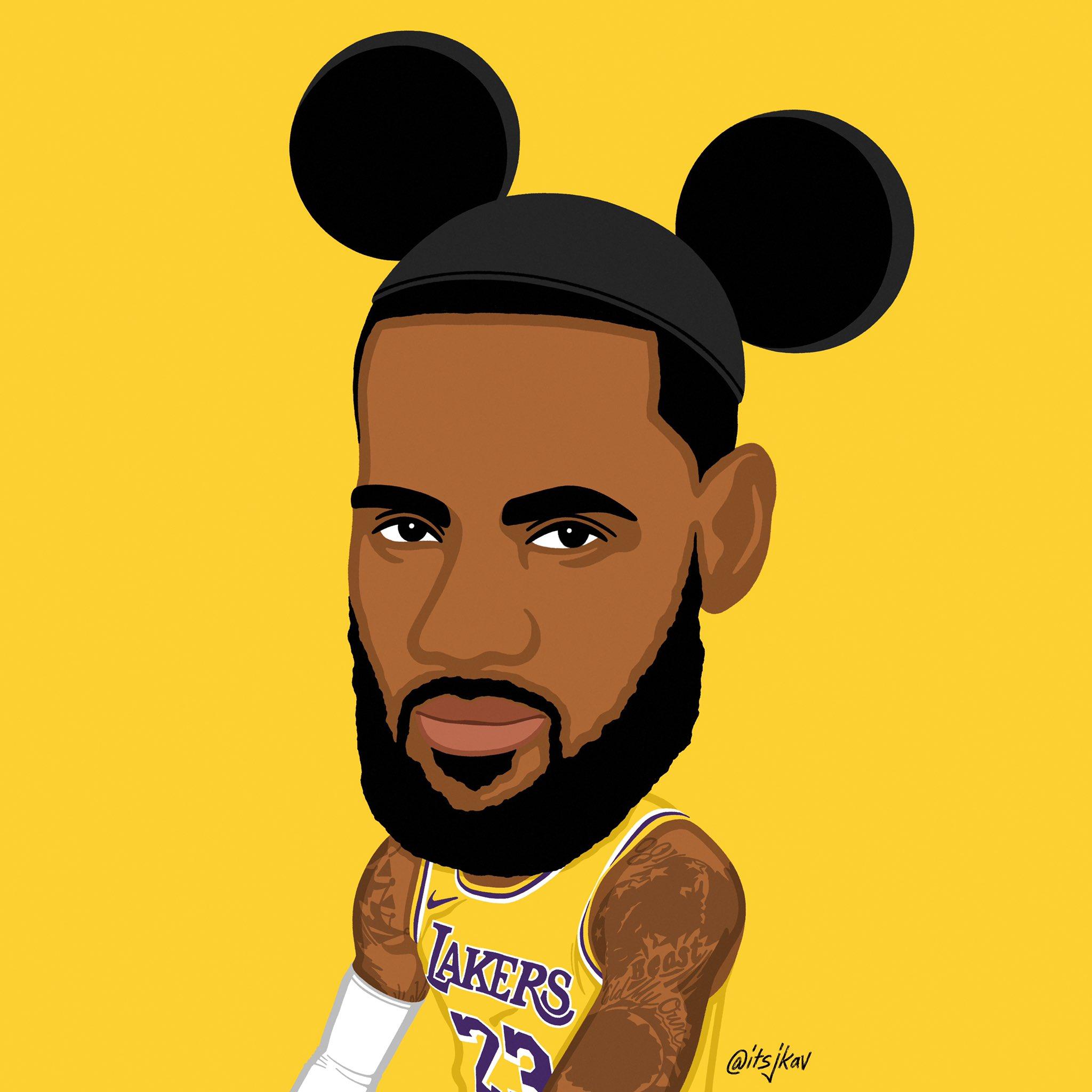 当NBA球星遇见迪士尼世界,各大球星卡通版形象照出炉