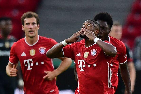 德国杯:莱万梅开二度阿拉巴格纳布里建功,拜仁42勒沃库森夺冠  足球话题区