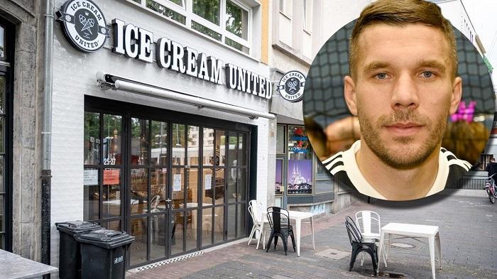 图片报:波多尔斯基在科隆的冰激凌店遭到不法分子攻击
