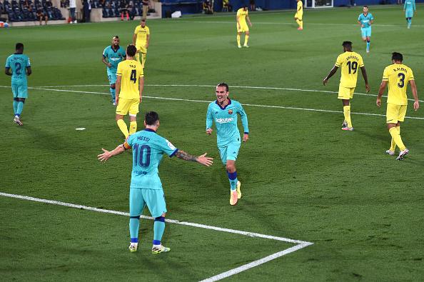 默契!格列兹曼为巴萨在西甲打进9球,梅西助攻了其中3球
