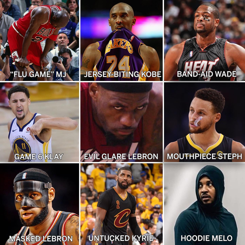 你选哪个?ESPN总结球星形态:流感MJ、面具詹、G6汤等