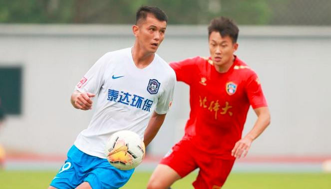 热身:肖智、谢维军破门,天津泰达2-0战胜北体大