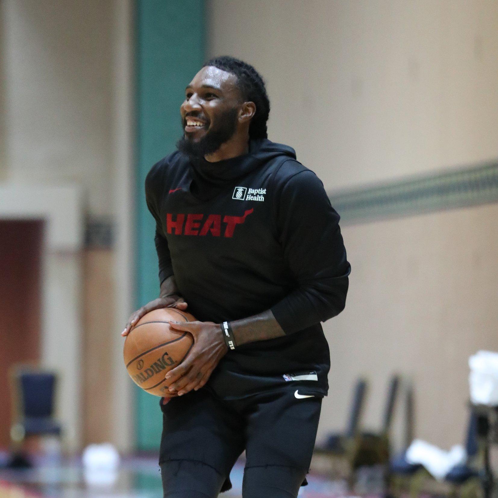 NBA官推发布热火今日训练照