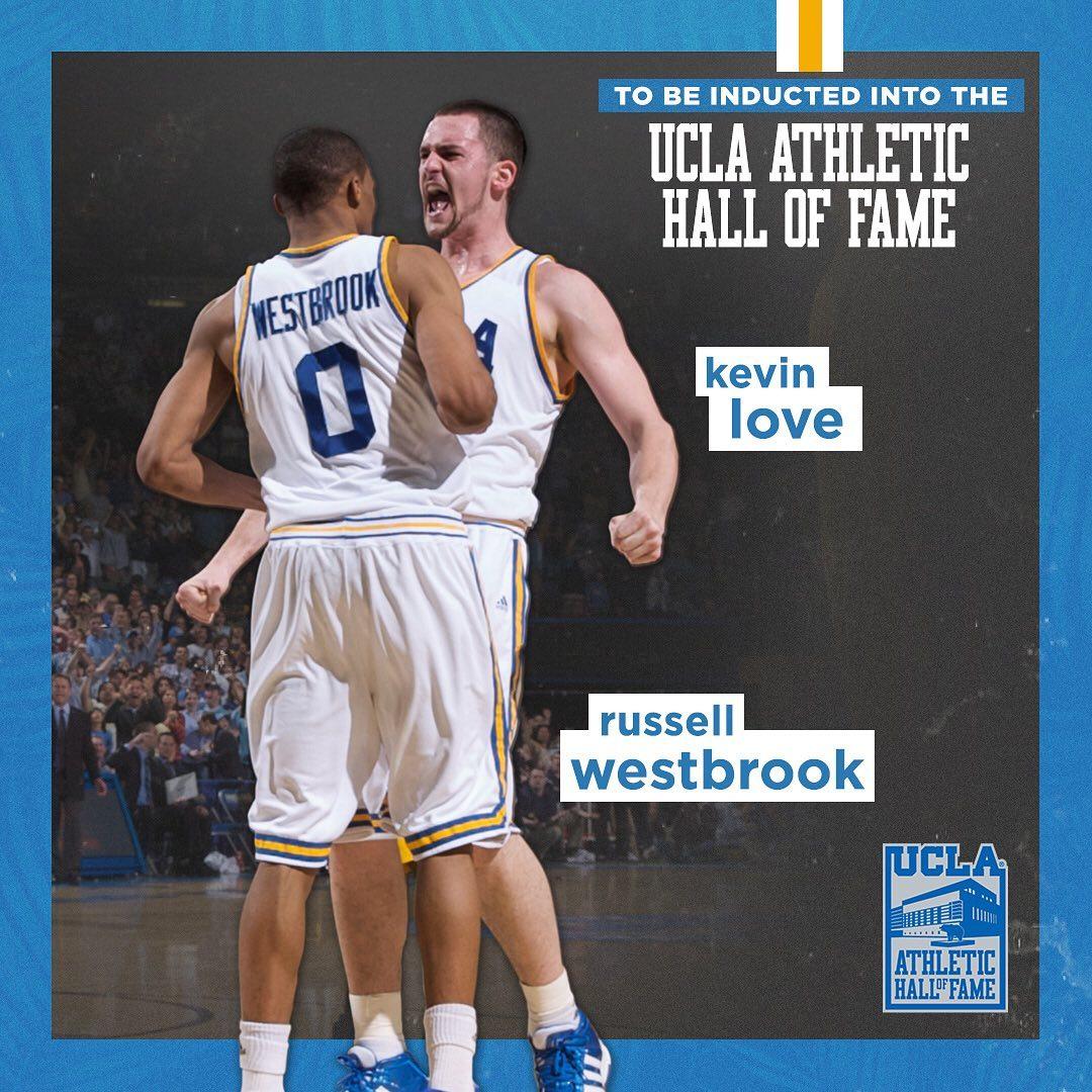 乐福Ins互动威少:2020届UCLA名人堂成员,一辈子的兄弟