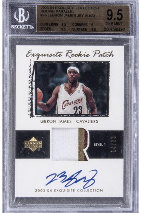 一张詹姆斯球星卡拍出180万美元,创造球星卡拍卖纪录