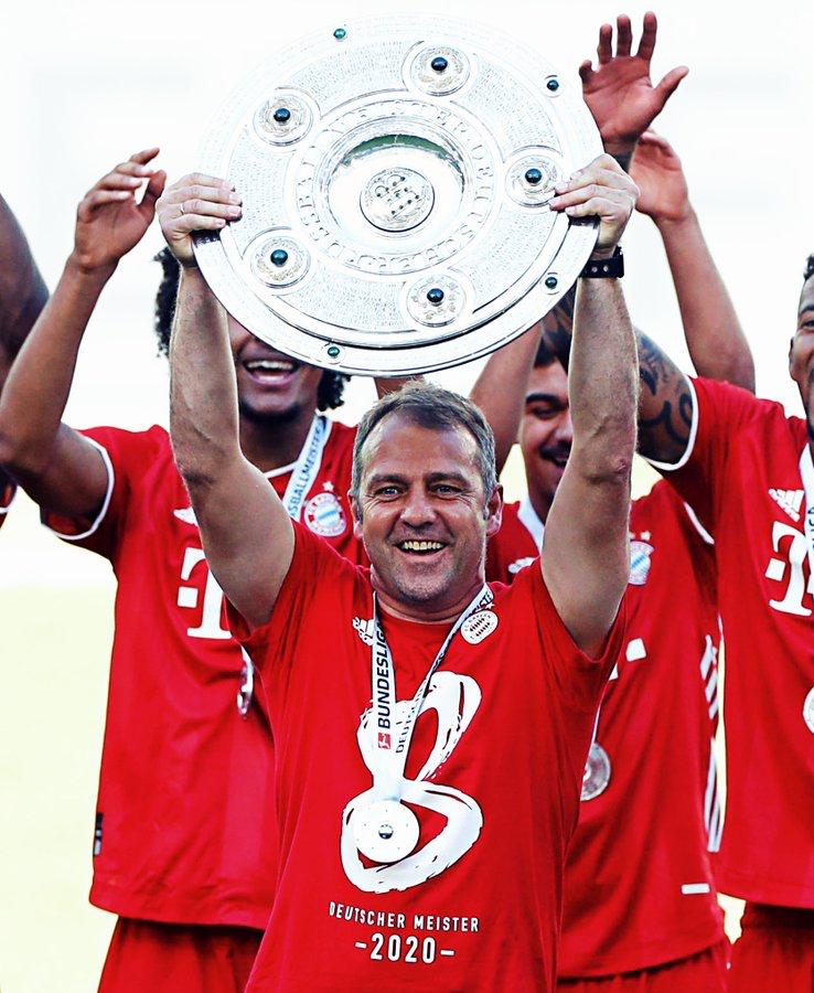 拜仁慕尼黑主帅弗里克在270名德甲球员的投票评选中