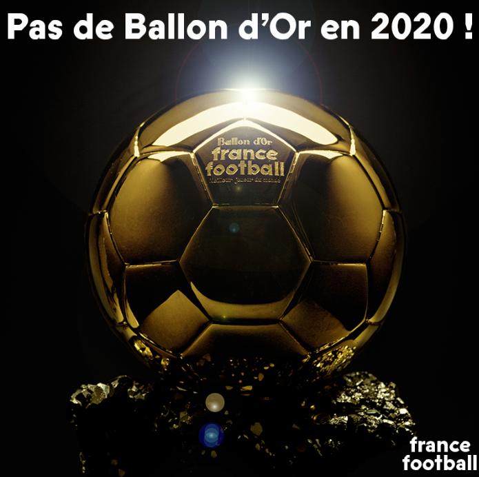 法国足球官方:2020年度金球奖将取消评选