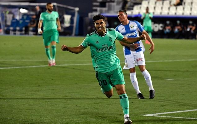 拉莫斯阿森西奥破门,皇家马德里2-2莱加内斯
