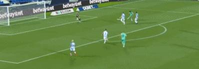 GIF:阿森西奥接直塞球抽射破门,皇马2-1领先莱加内斯
