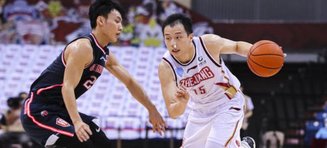 广东上半场50-53浙江,复赛以来广东首次半场落后对手