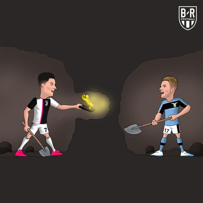 C罗联赛30球近4赛季初次,意甲射手榜与因莫比莱并列第一