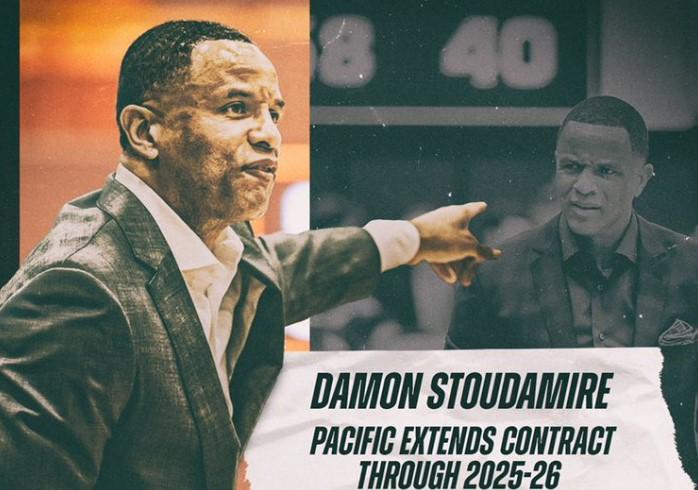 达蒙-斯塔德迈尔与太平洋大学男篮续约至2025-26赛季