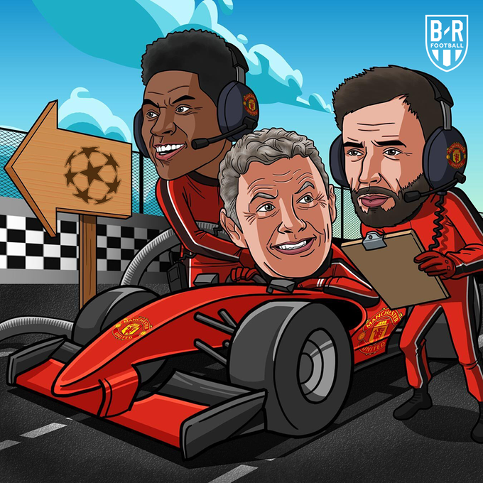 B/R海报:曼联2-0战胜莱斯特城,冲入新赛季欧冠联赛