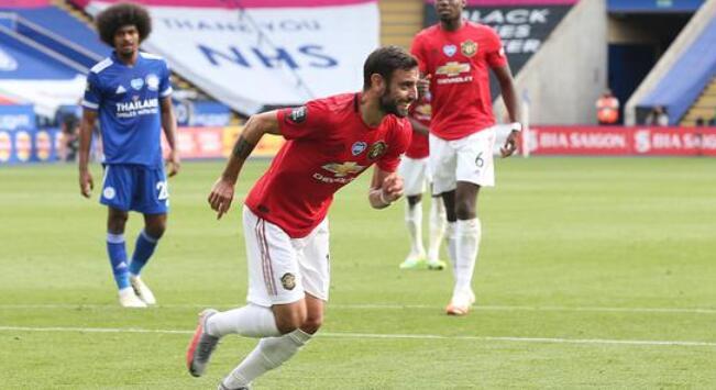 B费点射林加德建功,曼联2-0莱斯特联赛第3获欧冠资格