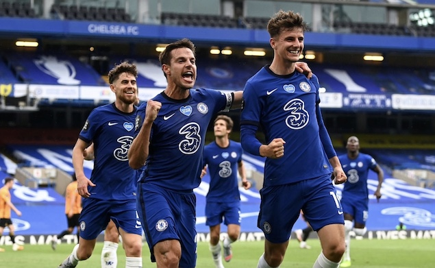芒特传射建功吉鲁破门,切尔西2-0狼队获第四进欧冠