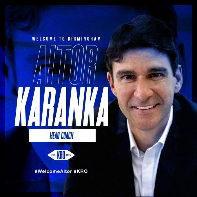 官方:伯明翰选用卡兰卡为新任主帅,双方签约三年