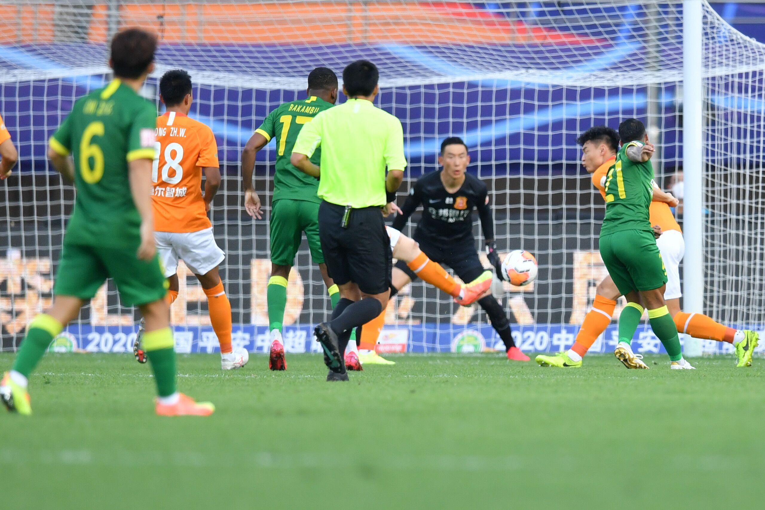 半场:比埃拉闪击巴坎布进球越位无效,国安1-0卓尔