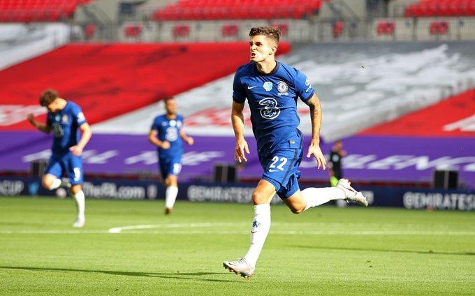 21岁!普利西奇成足总杯决赛第二年轻的进球球员,仅次于C罗