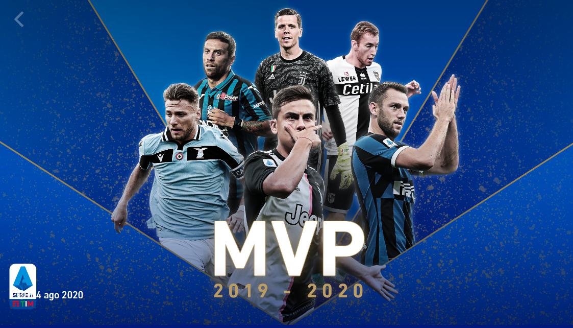 意甲赛季最佳评选:迪巴拉获MVP,因莫比莱当选最佳射手