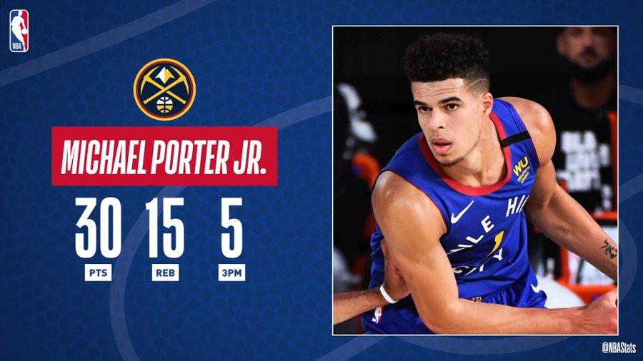 NBA官方评选最佳数据:小波特30分15篮板5个三分球当选