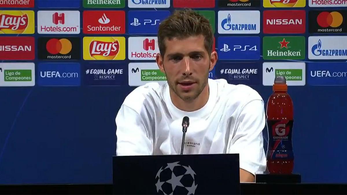 罗贝托:很高兴能去里斯本,我们间隔冠军还差三场比赛