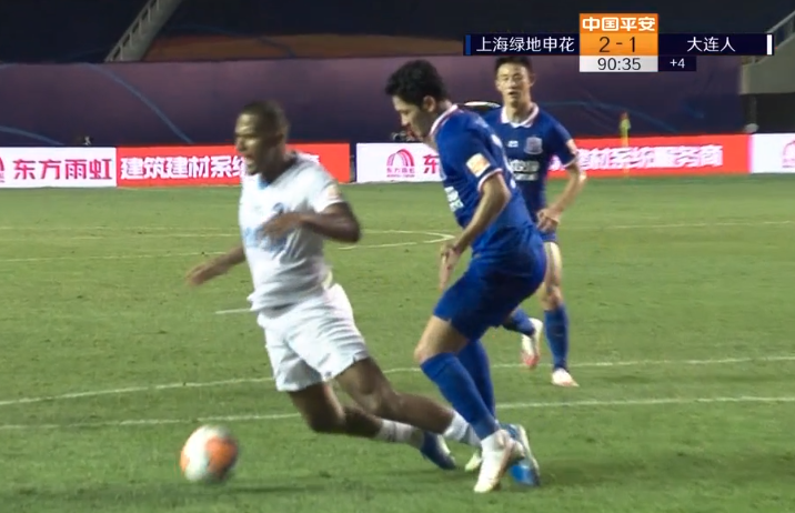 GIF:龙东造点亲自主罚命中!大连人2-2补时追平申花